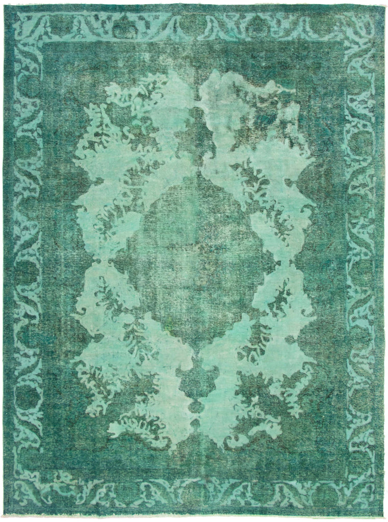 "Hand Knotted Turkish Overdyed Rug, 9'0"" x 12'5"""