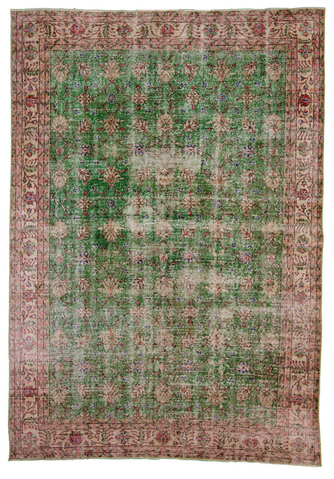 "Hand Knotted Turkish Rug, 7'2"" x 10'3"""