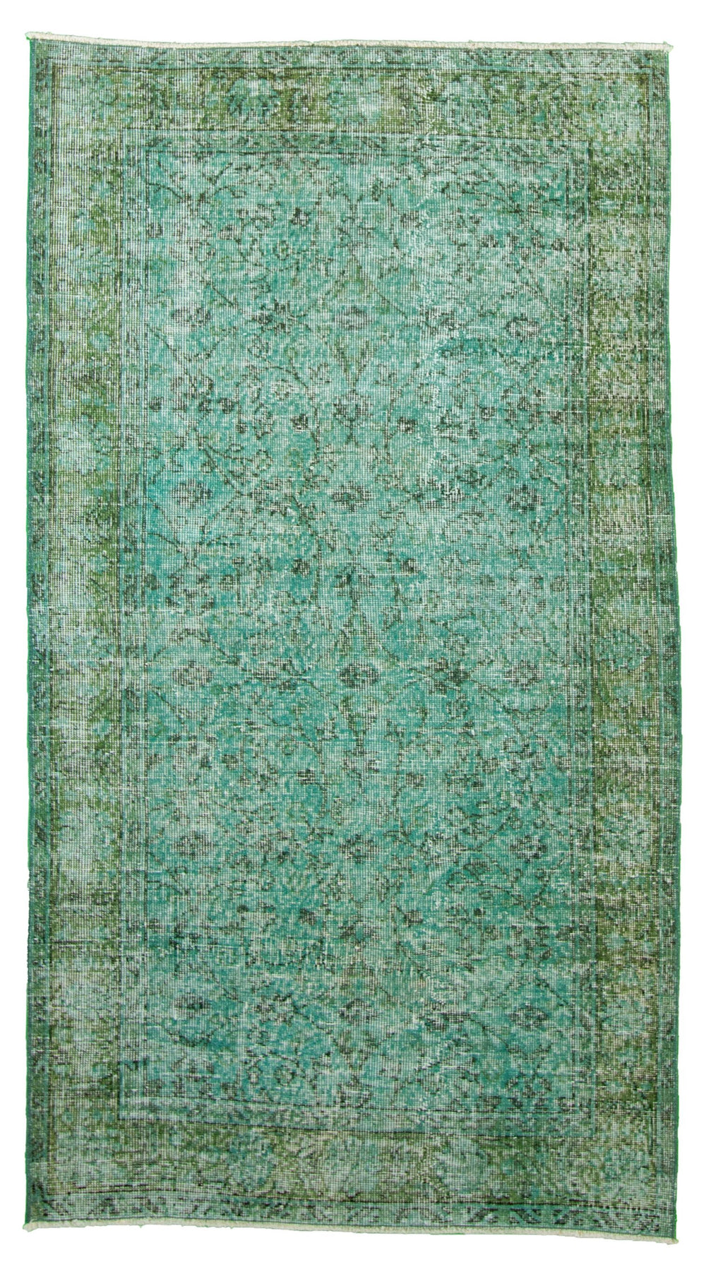 "Hand Knotted Overdyed Rug, 3'8"" x 6'8"""