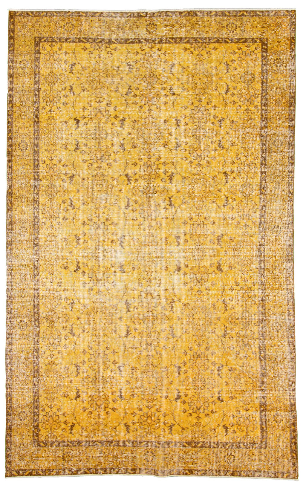 "Hand Knotted Turkish Overdyed Rug, 5'7"" x 9'1"""