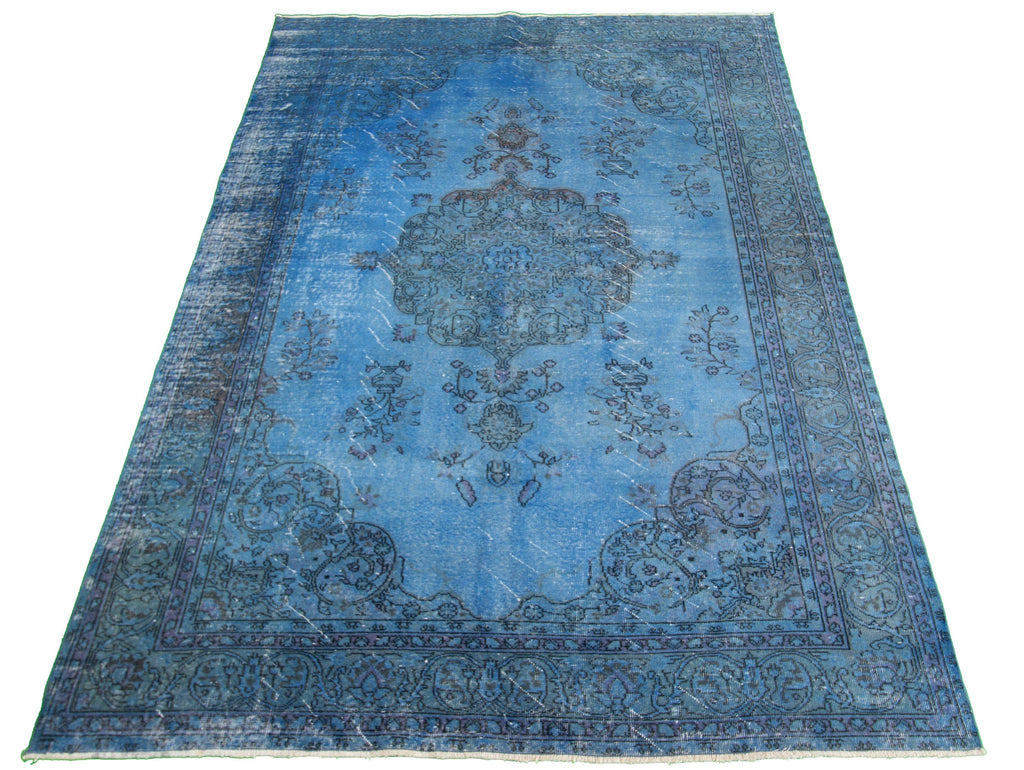 "Hand Knotted Turkish Overdyed Rug, 6'3"" x 9'9"""