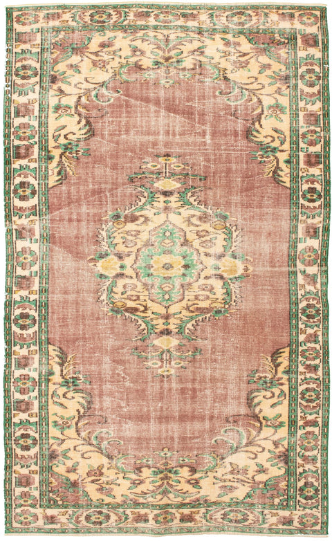 "Hand Knotted Turkish Rug, 5'10"" x 9'4"""