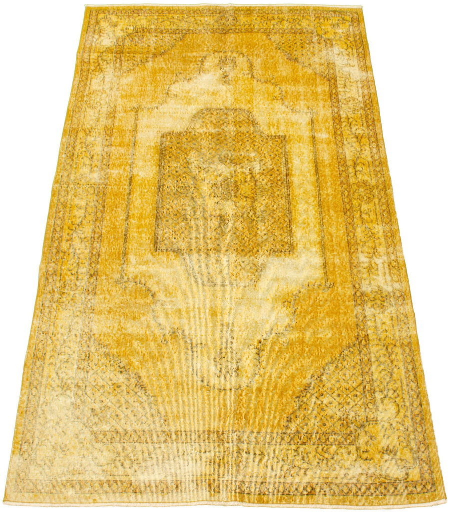 "Hand Knotted Turkish Overdyed Rug, 4'8"" x 8'7"""