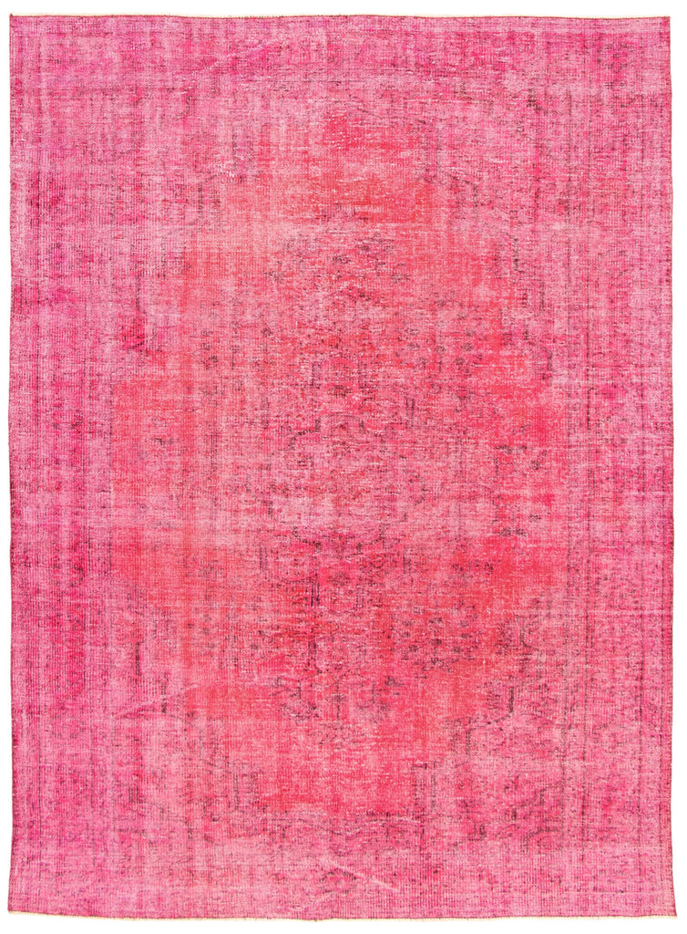 "Hand Knotted Turkish Overdyed Rug, 6'2"" x 8'8"""