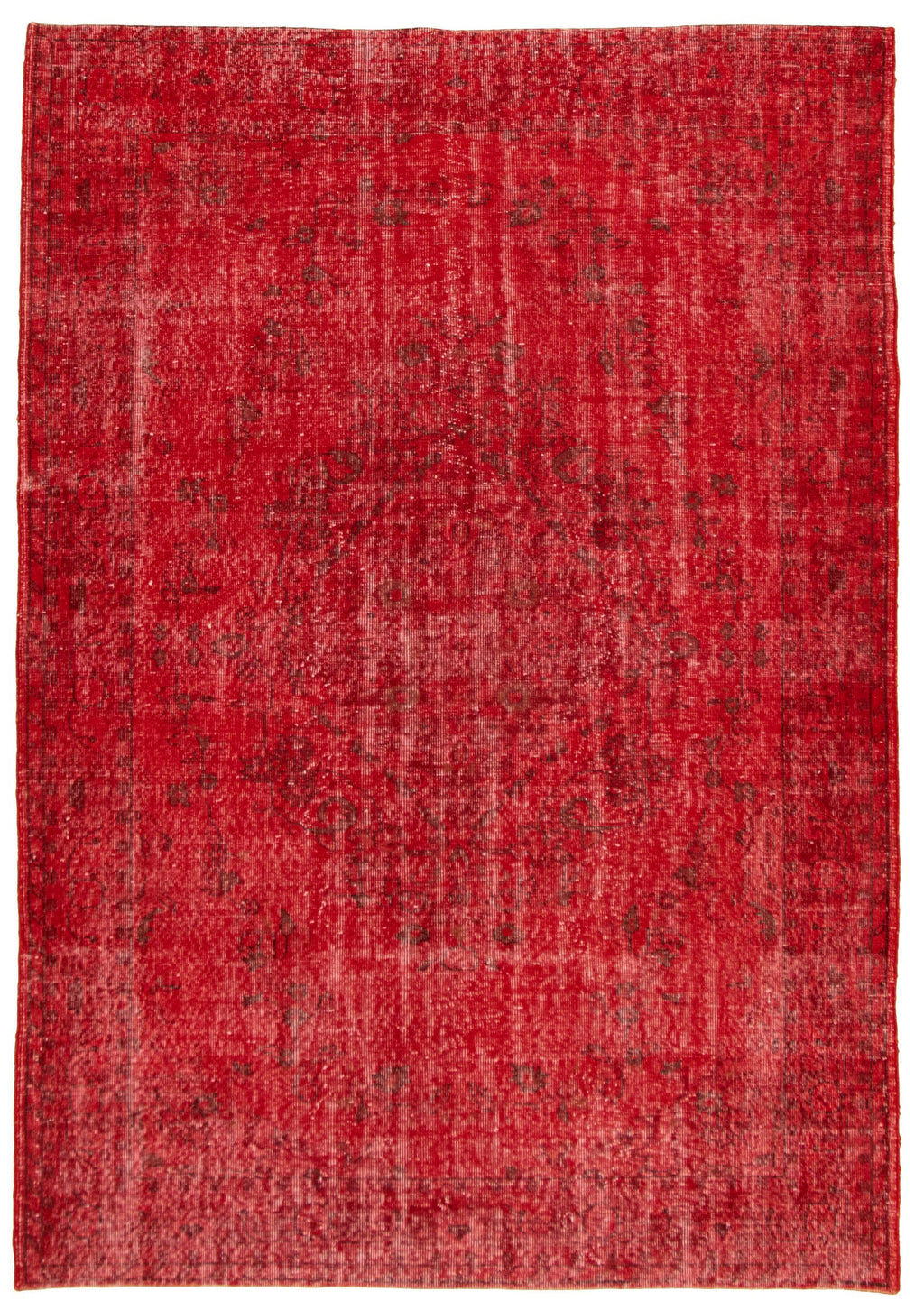 "Vintage Overdyed Rug, 6'7"" x 9'6"""