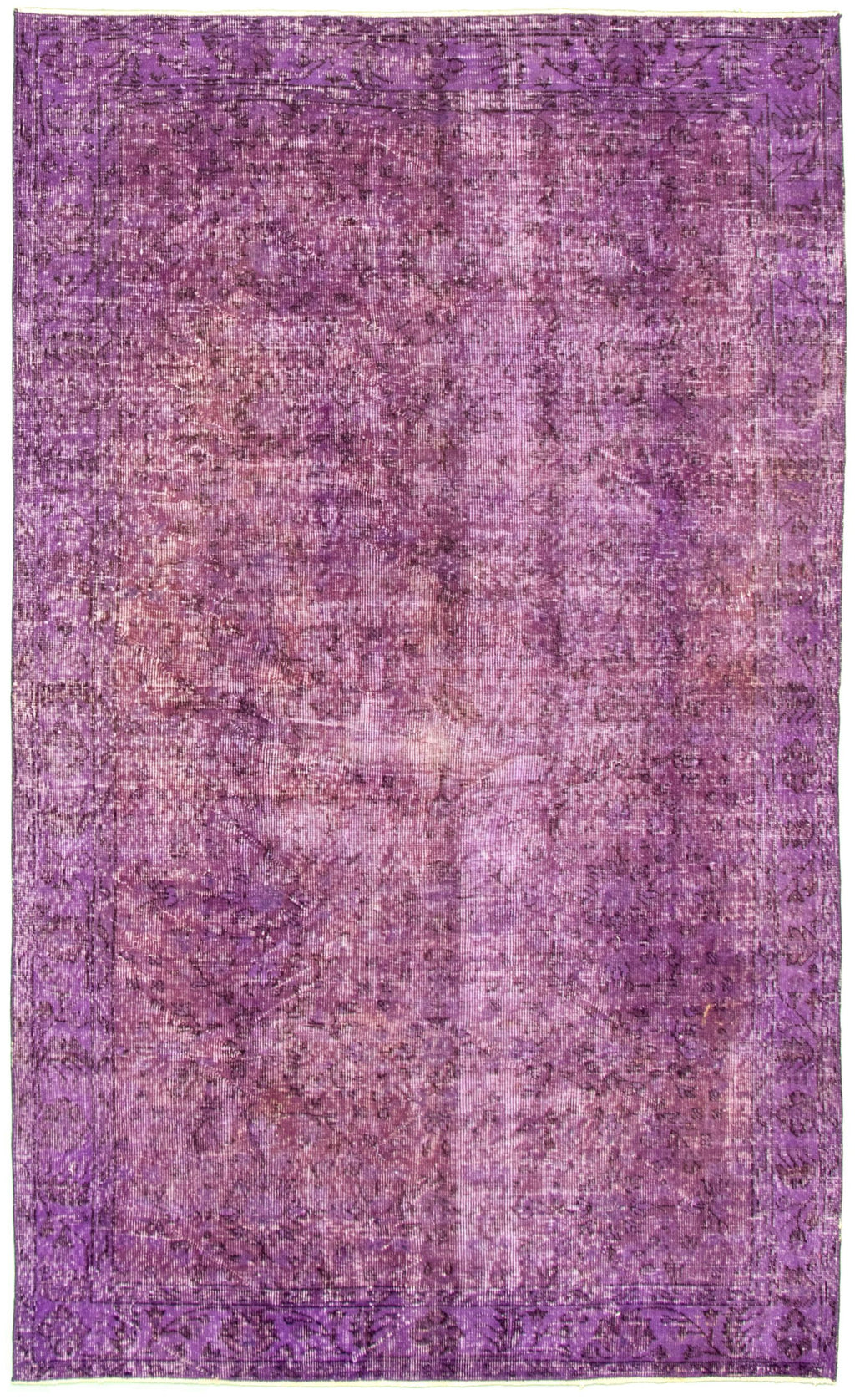 "Hand Knotted Overdyed Rug, 5'2"" x 8'4"""