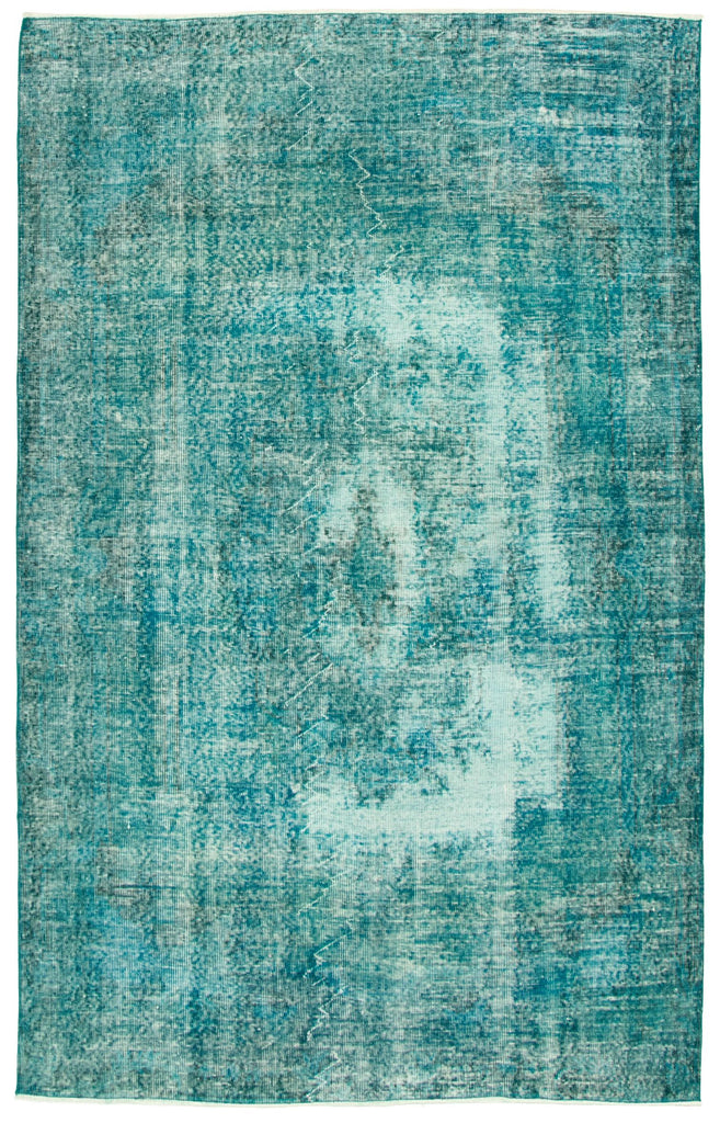 "Hand Knotted Overdyed Rug, 5'10"" x 9'2"""
