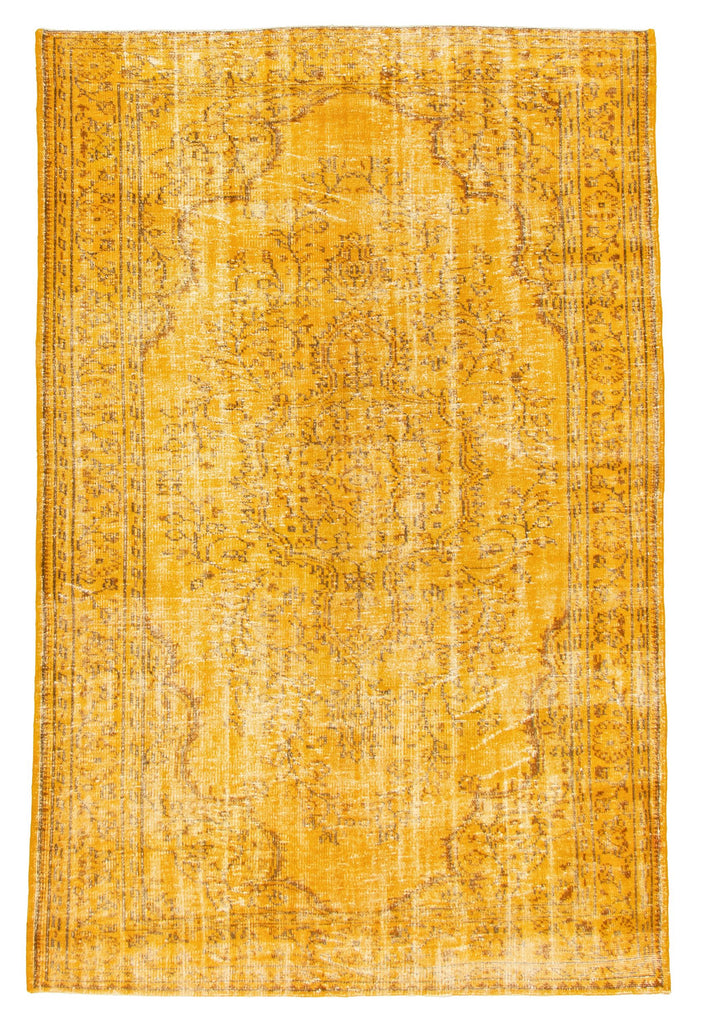 "Hand Knotted Overdyed Rug, 6'6"" x 9'11"""