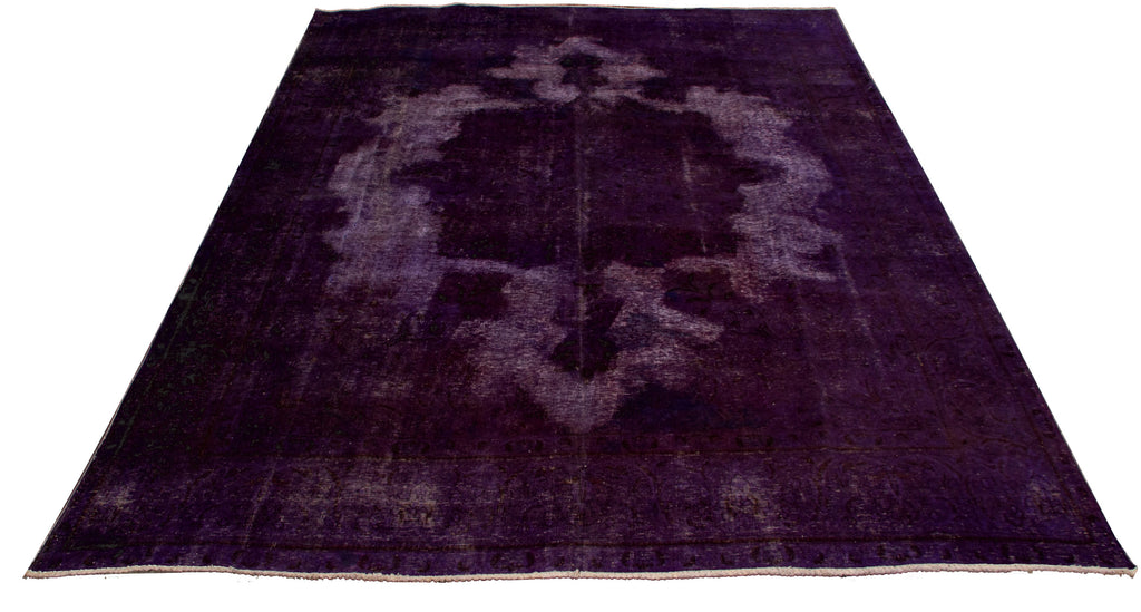 "Vintage Overdyed Rug, 9'8"" x 13'1"""