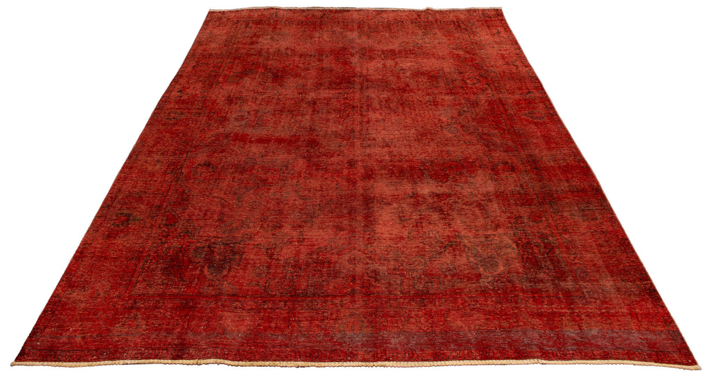 "Hand Knotted Turkish Overdyed Rug, 9'4"" x 12'4"""