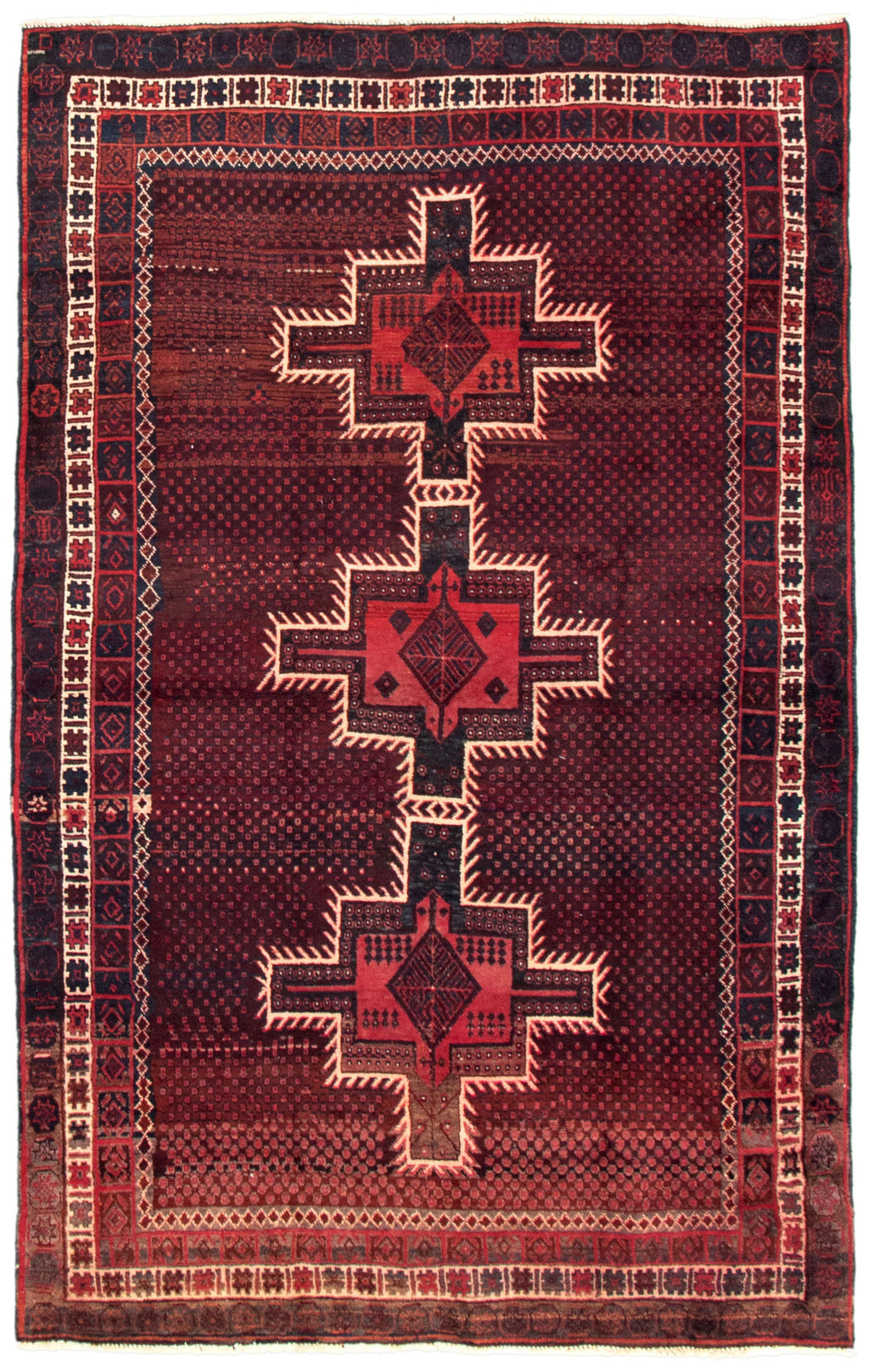 "Turkish Hand-Knotted Rug, 4'6"" x 7'5"""