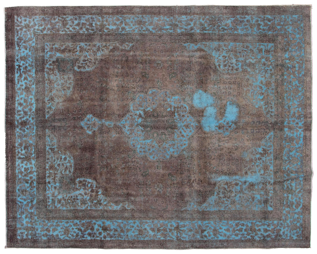 "Vintage Turkish Overdyed Rug, 9'10"" x 12'6"""