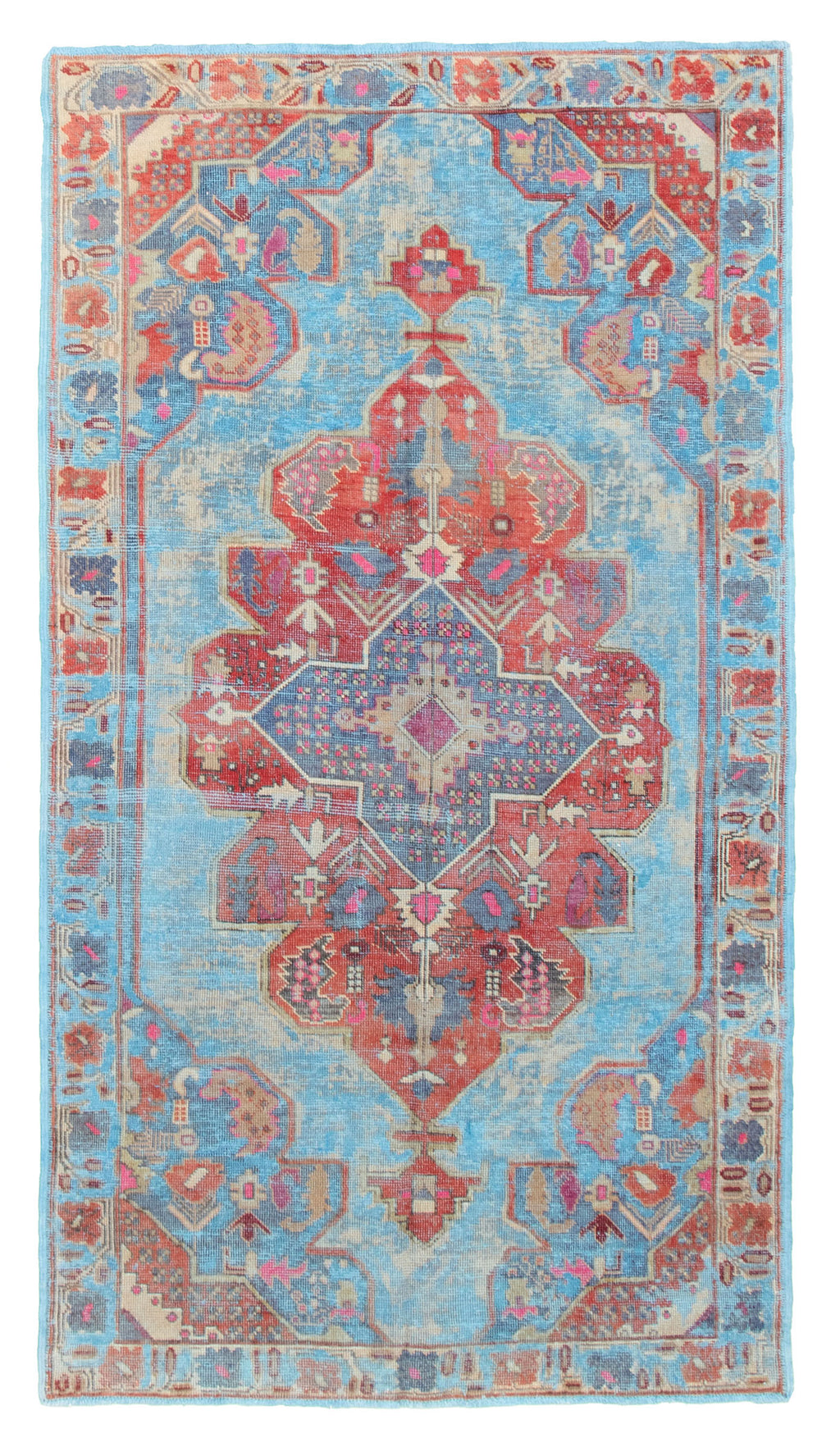 "Hand Knotted Overdyed Rug, 4'7"" x 8'4"""