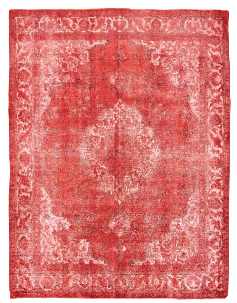 "Hand Knotted Overdyed Rug, 9'10"" x 12'7"""