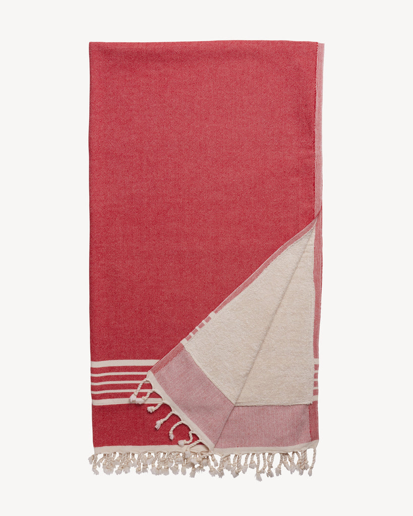 Spa Towel, Red-Spa Towel-Indigo+Lavender
