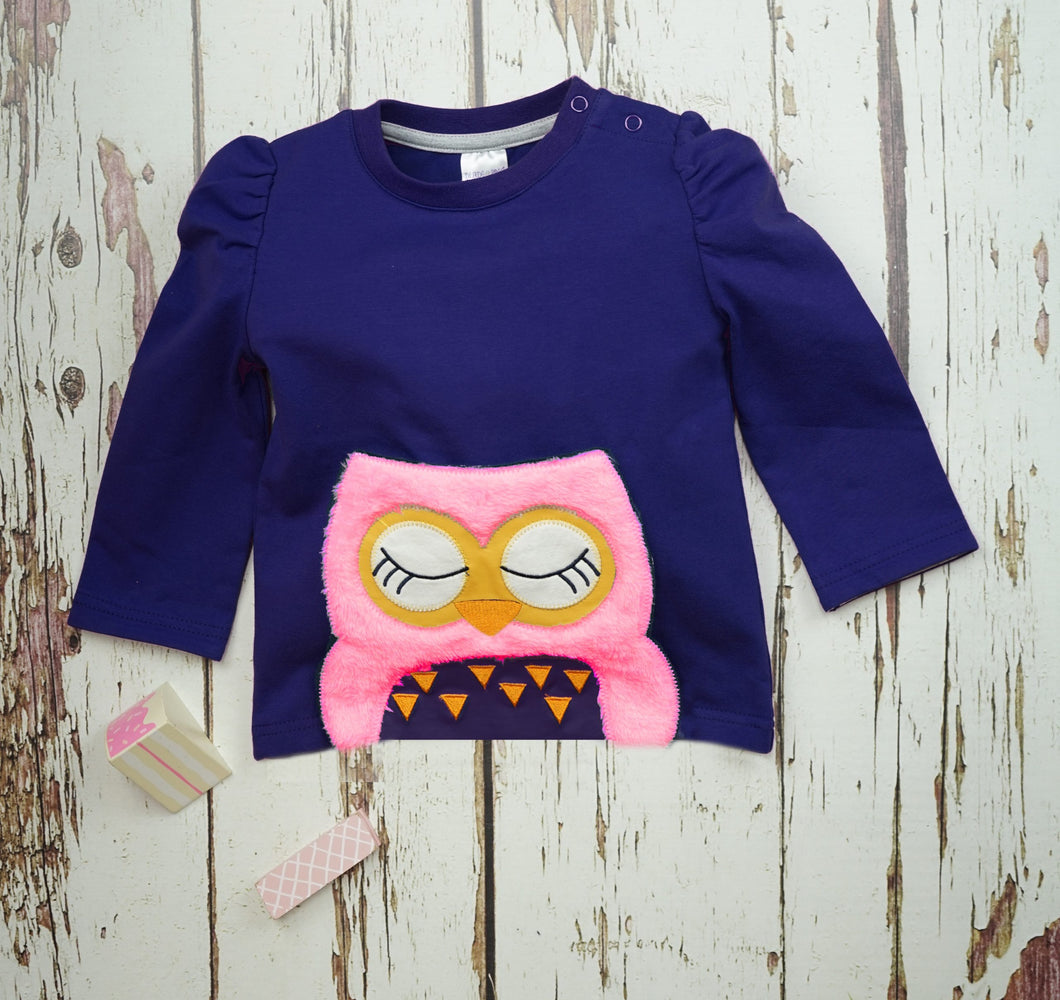 Betty Owl Long Sleeve Top