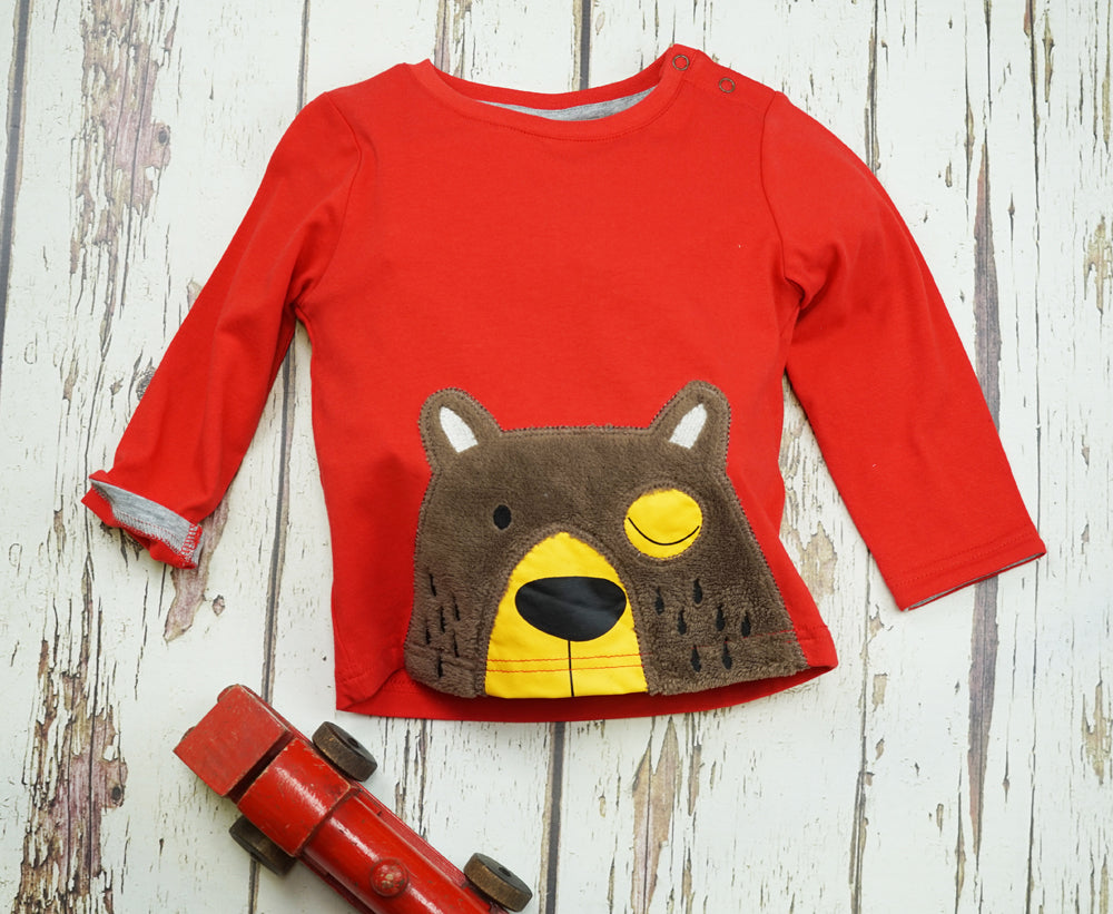 Big Brown Bear Long Sleeve Top