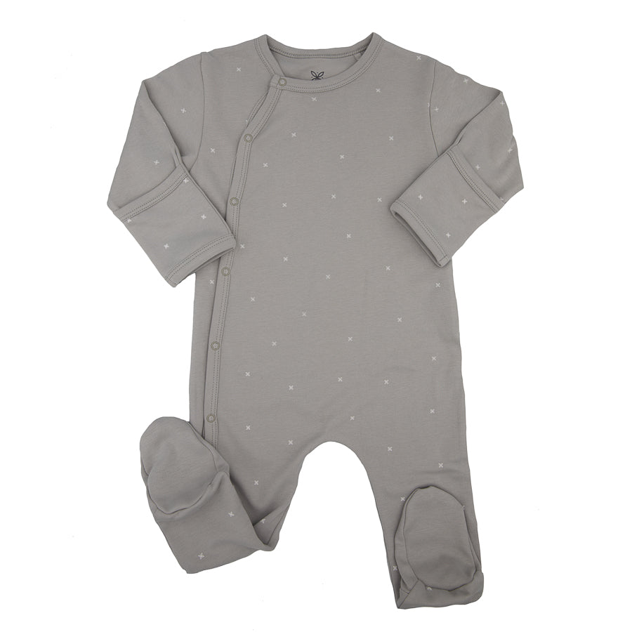 Grey Organic Cotton Romper