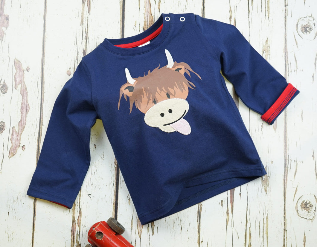 Highland Cow Long Sleeve Top