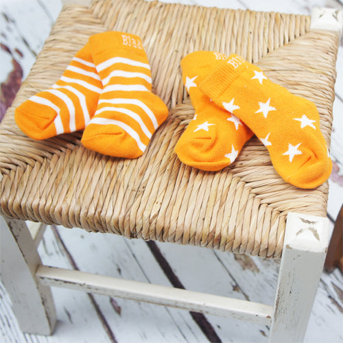 Orange and Cream Socks