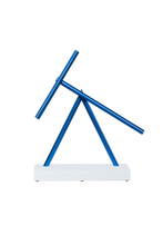 Load image into Gallery viewer, The Swinging Sticks - Desktop Toy - White/Blue