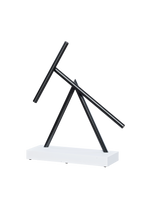 Load image into Gallery viewer, The Swinging Sticks - Desktop Toy - White/Black