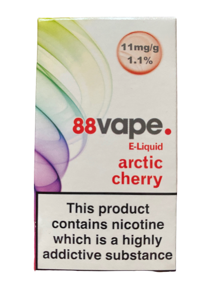 88 Vape E Liquid - Arctic Cherry - 11mg Nicotine (10ml)