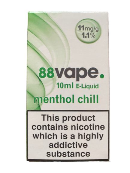 88 Vape E Liquid - Menthol Chill - 11mg Nicotine (10ml)
