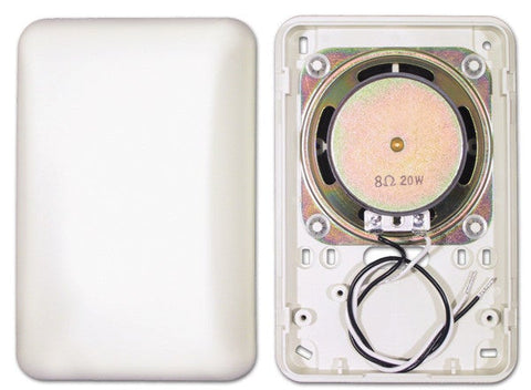 ELK-70  20 Watt, 8 Ohm Speaker Mounted in an Attractive Surface Mount Plastic Enclosure - PAM Distributing Co