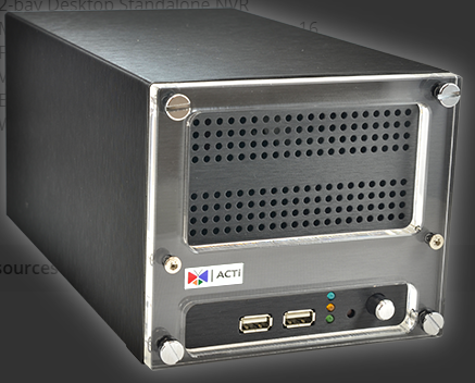 16-Channel 2-Bay Desktop Standalone NVR