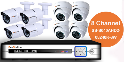 SeeStation (AHD) KIT 08 Channel 2MP/1080P Analog High Definition Surveillance Kit (FREE HDD) - PAM Distributing Co