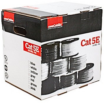 CAT 5E 350 MHz SOLID COPPER GRAY 1000' BOX - PAM Distributing Co - 2