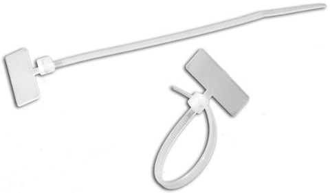 "Cable Tie Wire Marker ID Style 4"" 40lb 100 Lot White  (MADE IN USA) - PAM Distributing Co"
