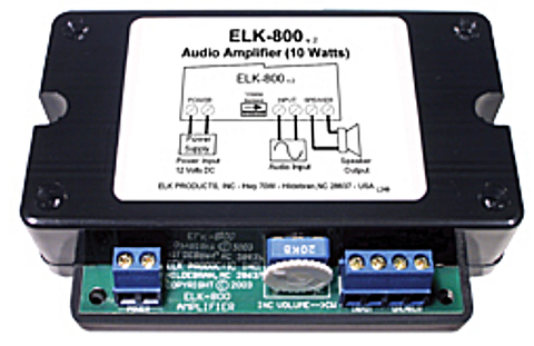 ELK-800 Audio / Paging Amplifier 10W - PAM Distributing Co