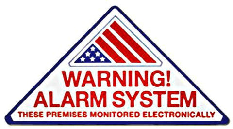 "Warning Sign SECURITY ALARM DECALS  3.2"" x 6.4"" Triangle Shape (100 Lot)"