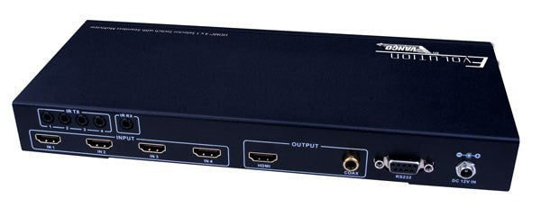 Vanco Evolution HDMI® 4 x 1 Selector Switch with Seamless Switching and Multiview - PAM Distributing Co - 3