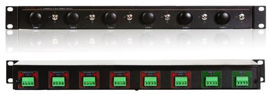 Factor VC-9 Speaker Selector Impedance matching 9 Stereo Zones - PAM  Distributing Co