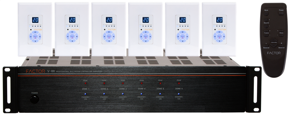 FACTOR V-66 Professional Multiroom Audio System - PAM Distributing Co - 1
