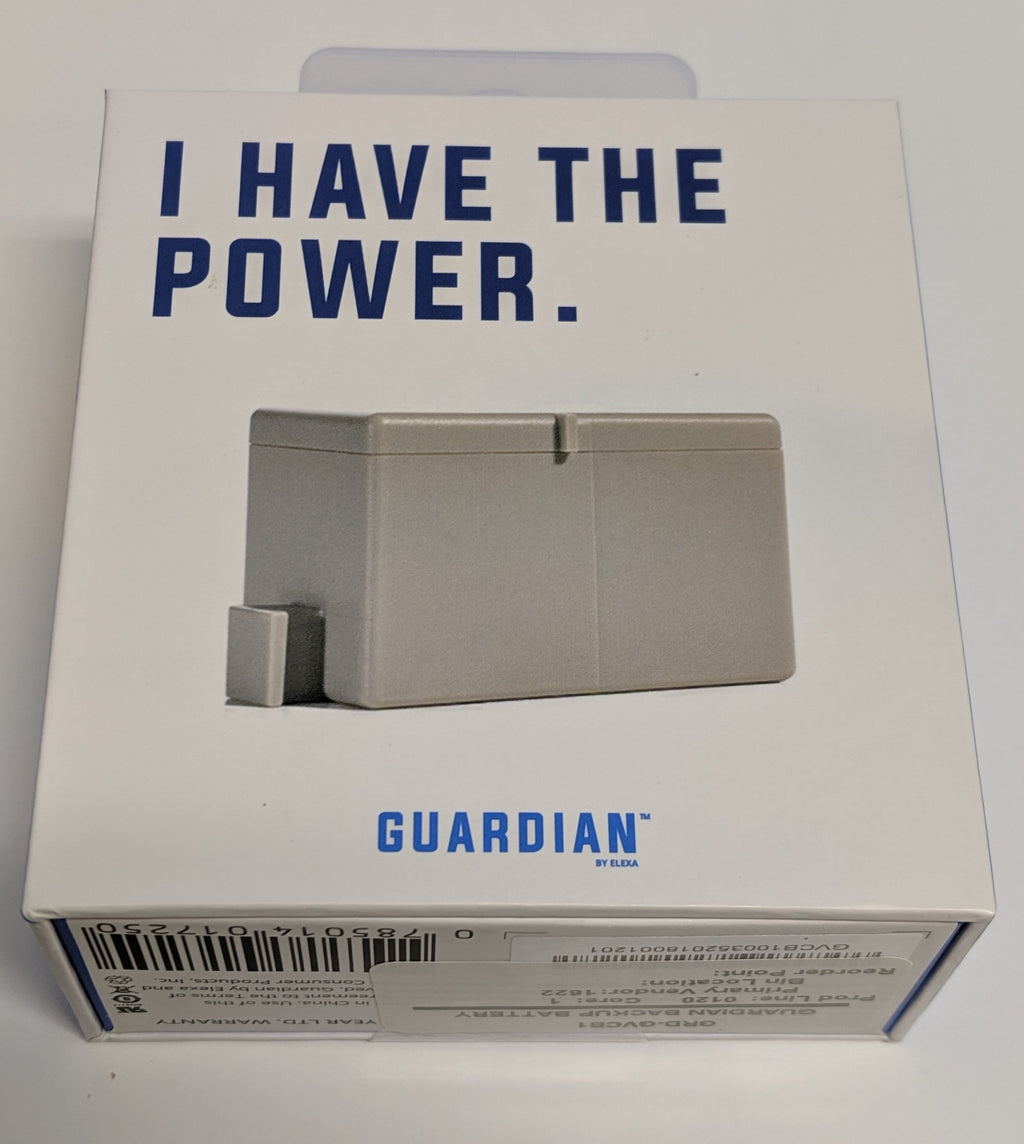 GRD-GVCB1 GUARDIAN BACKUP BATTERY