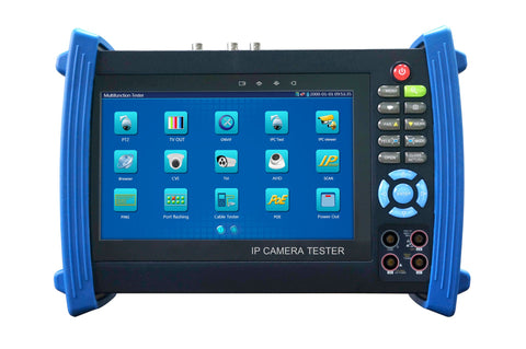 "SeeStation SS-TM-PC-700Y 7"" LCD Hybrid Camera Tester With HD-SDI + Analog + IP + AHD + TVI + CVI + LAN + Multimeter - PAM Distributing Co - 1"