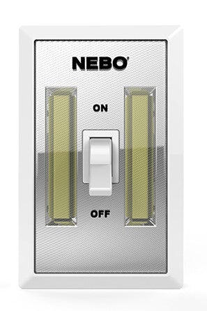 NEBO 6523 FLIPIT WIRELESS WALL SWITCH & 215 lumen LIGHT (TWO PACK) - PAM Distributing Co - 1
