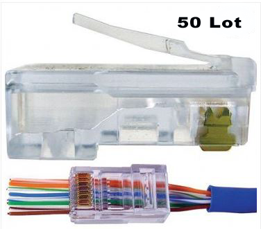 MODULAR CAT5E PLATINUM TOOLS EZ-RJ45 CONNECTORS  (50 LOT PACK) - PAM Distributing Co