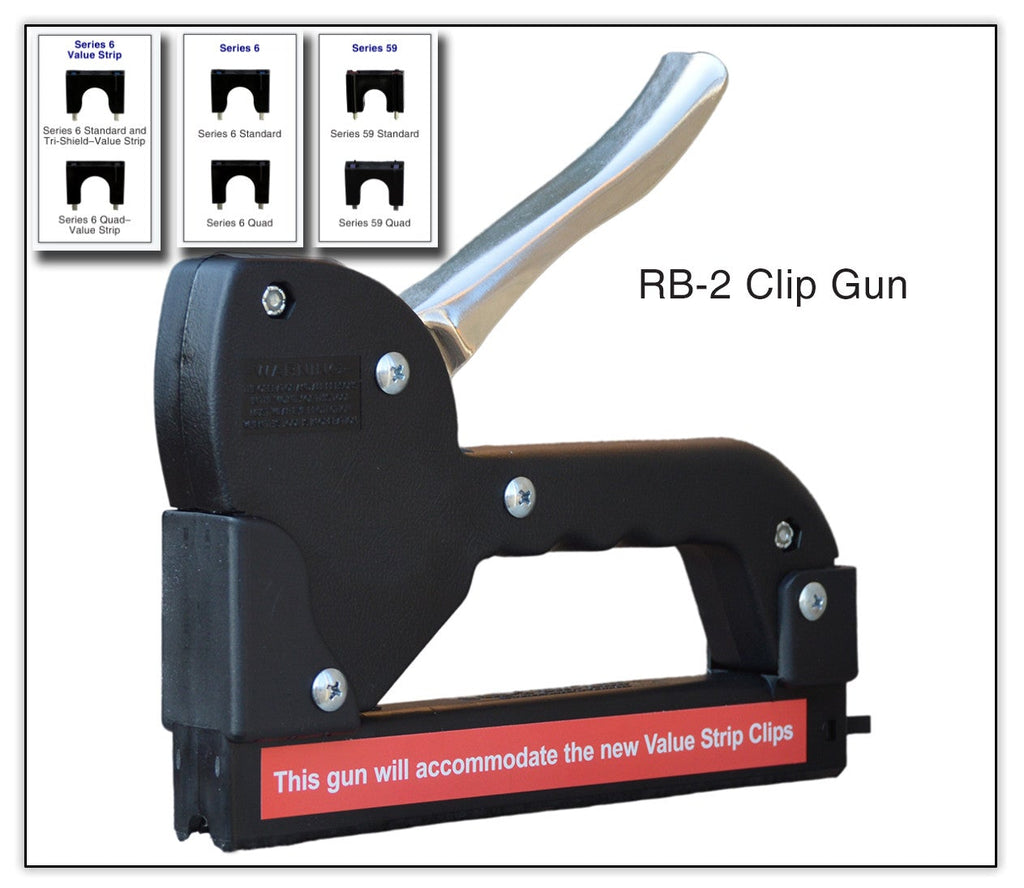 Telecrafter RB2 Cable Clip / Staple Gun for Single RG 6 / RG 59 - PAM Distributing Co - 1