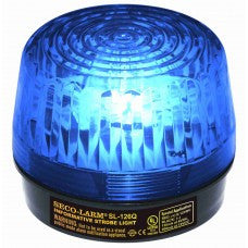 SECO-LARM SL-126-A24Q/B Strobe Light, 6~24VDC, Blue - PAM Distributing Co - 1