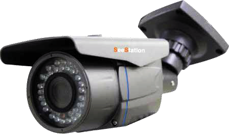 SeeStation C1210AF8-AG Bullet Camera Outdoor 700 TVL Fixed 3.6mm Lens 12V Gray - PAM Distributing Co