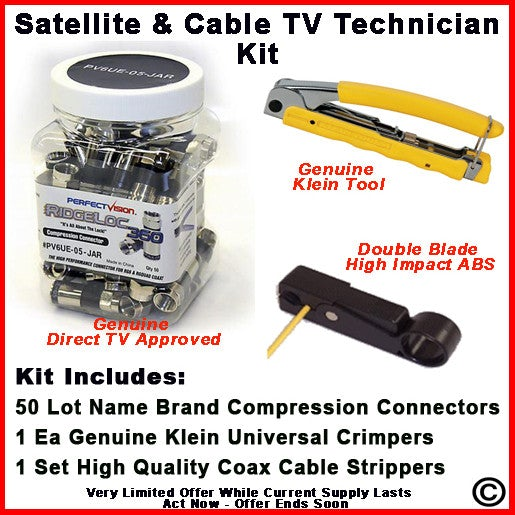 Cable Installation Kit : Satellite cable tv technician installation kit pam