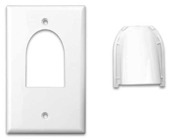 Custom Two-Piece Packaged Cable Wall Plates (Single & Ivory) - PAM Distributing Co - 2