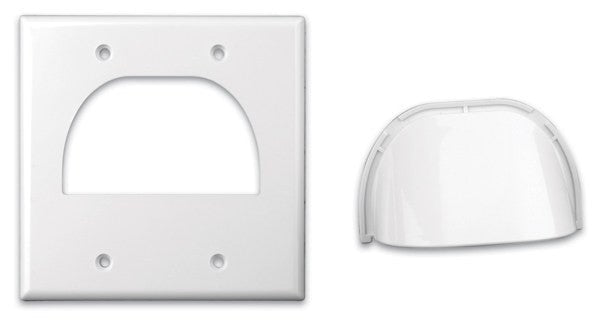 Custom Two-Piece Packaged Cable Wall Plates (Dual & White) - PAM Distributing Co - 2