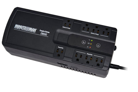 Minuteman EN550 EnSpire 550 VA Stand-by UPS with 8 outlets