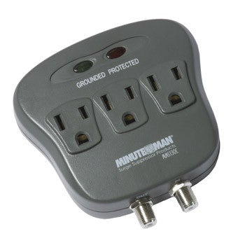 MinutemanаЂаŽ MMS130C SURGE PROTECTOR	 3-Outlet w/ coax protection - PAM Distributing Co